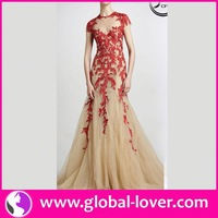 2015 wholesale red and cream wedding dresses
