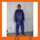 100% PVC / PU raincoat with high quality Set Elastic