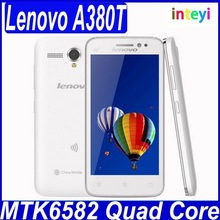 Original Lenovo A380T Mobile phone 4.5'' TFT Quad-core 4GB ROM 5MP Dual Cameras Multi language cell phones 2250mAh Battery
