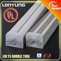 High Quality Doube t5 lamp with power cord 3ft 4ft 6ft t5 lighting fitting DLC UL