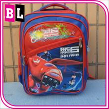 Hot Selling New Arrival Kid Backpack School Bag Big Hero 6 Baymax