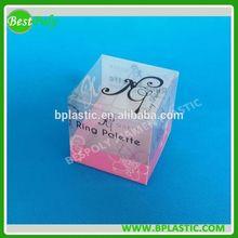 Clear jewelry packaging box in custom design