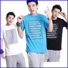 2015 t shirt manufacturer custom heat transfer printing t shirt wholesale china