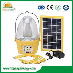 Portable 5 led dynamo outdoor lights led solar lantern solar garden led light