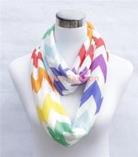 STOCKS hot in USA Canada inventory Chevron Greek Key Quatrefoil infinity scarf chevron scarf delivery within 3 days