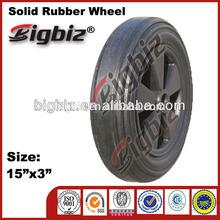 Big size wheel for wheelbarrow, solid rubber wheel for wheelbarrow