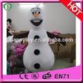 Salut ce 2015 chaude!! Bonhomme de neige costume de mascotte de l'olaf, l'olaf mascotte personnage de film, bonhomme de neige de fantaisie pour adultes