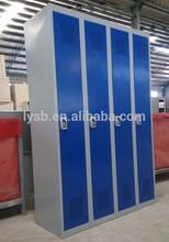 4 doors fingerprint lock knock down steel ikea clothes cabinet