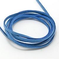 Wholesale 3MM Velvet cord 100pcs/lot Bright Blue Jewelry Cord DIY Jewelry DH-FXU001-47
