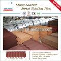 Tejas/clásico plana negro piedra recubierta de metal para techos del azulejo