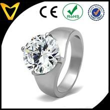Ingrosso modain acciaioinox grande 11 carati solitario cubic zirconia anelli di fidanzamento,in acciaioinox anello di fidanzamento