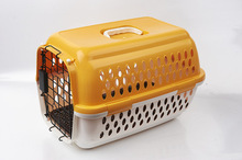 2015 Plastic Airline Pet Carrier portable dog crate