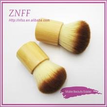 China factory custom logo cosmetic brush face makeup brush colored bamboo kabuki brush