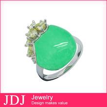 venta caliente precio de fábrica plata 925 joyeria cambia de color anillo de obsidiana