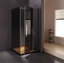 Stainless Steel Frameless Pivot Shower Cubicles Price&Prefab Bathroom Shower Cabin