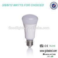 long lifespan solar energy saving IP65 SMD5630 led e27 7w bulb lights