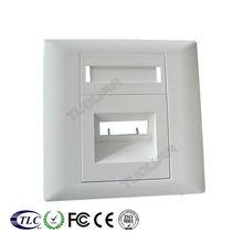 FTTH Fiber Optical 2 Port Face Plate