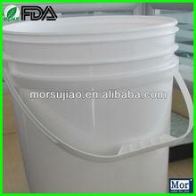 virgin PP Plastic pail/bucket by silk screen/heating transfer painting