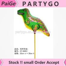 Hot sales ! Wholesale prop rod balloon dinosaur 52CMX54CM party balloons , children's toys stick balloon
