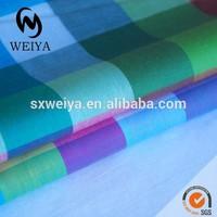 Color fluorescent big plaid fabric