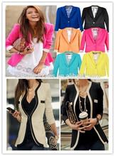 2014 2015 High fashion women new design ladies tweed blazer