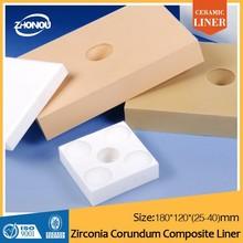 OAB alumina lining brick/ceramic liner/used tile