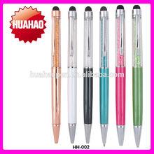 pen with rhinestone with logo printing Diamond pen crystal pen