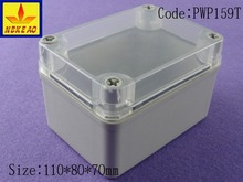 IP66 plastic waterproof electrical enclosures with transparent cover
