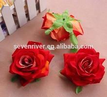 Flannelette rose flowers head,fabric rose flowers making,silk rose flower head