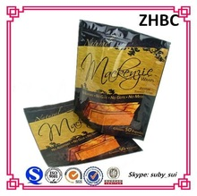 zip lock foil stand up plastic cookie bags