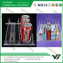 Cigarrillo de plástico estante empujador y de acrílico estante divisor