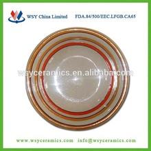 "10.5"" hand painted dinner plates,ceramic turkey platter,plates wholesale"