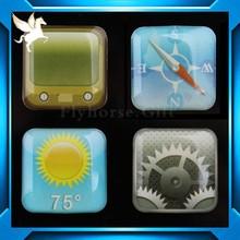 Souvenir Crystal Epoxy Glass Set Fridge Magnet