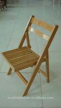 wholesale natural beech wood slat folding chair