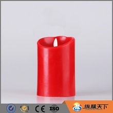 "3.5""*5"" Red flameless moving wick led candle"