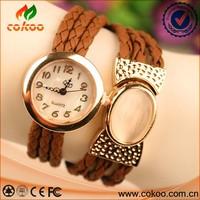 Hot Sale New Vintage Quartz Women Dress Watchs With A Big Opal Wrap Bracelet Wrist Watch
