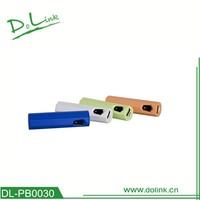 With CE ROHS UL good quality top sale colorful single usb micro usb power bank 1900mah