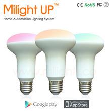 Smart Lighting CE/Rohs color changing rgbw wifi rf wireless bulb lights mini led