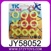 Kids mini plastic travel tic tac toe chess games for promotion
