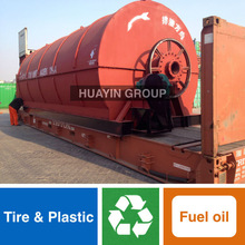 full automatic waste tire/plastic pyrolysis machine with catalyst formula