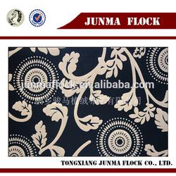 Golden Blacking Polyester Backing China Textile Flocked Sofa Fabric Arabic Style