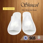 White Disposable open toe Bathroom Hotel Slippers