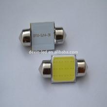 Auto part 10x36mm with 12pcs COB 12vDC LED car light bulb