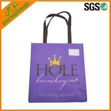 Eco Printed Purple Non Woven Shopping Bag
