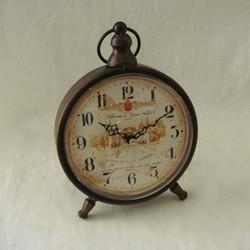 Metal unique table clock antique desk clocks (I03001)