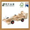 Educational 4 Color Wood 3D DIY car Model Wooden Toy for children