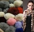 china auténtica piel de conejo rex pompón de piel de zorro pompomraccoon pompón de piel para prendas de vestir gorras bufandas