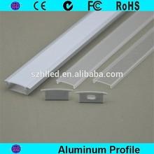 Anodized recessed aluminum pipe and aluminum extrusion profile