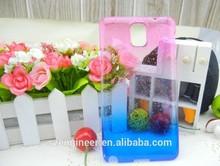 Blusih silicon + purpls rain drop phone cover case snap for Samsung Galaxy note 3 N9000
