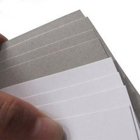 Recycled Pulp Style and Mixed Pulp Material 350gsm white coated Duplex Board with grey back